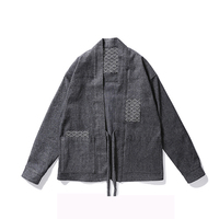 Men Thick Kimono Brand Design Jackets Cool Japanese Embroidery Clothes Fashion Streetwear Outwear Jackets Kanye West Yee Jacket
