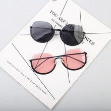 Модные женские круглые разноцветные солнцезащитные очки стиль хип-хоп цветные линзы ретро очки солнцезащитные очки автомобильные аксессуары