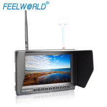 Feelworld 8 Inch Wireless FPV+DVR Monitor for Drone UAV Gopro with Built-in Battery Dual 5.8G 40CH Diversity Receiver PVR821