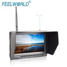 Feelworld 8 Inch FPV Nirkabel + DVR Monitor Drone UAV Gopro dengan Built-In Baterai Ganda 5.8G 40CH Keragaman Receiver PVR821