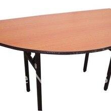Горячие Продажи Банкетный стол, полукруглый складной стол, твердой фанеры 18 мм с ламинированной верхней части, стали складной ноги