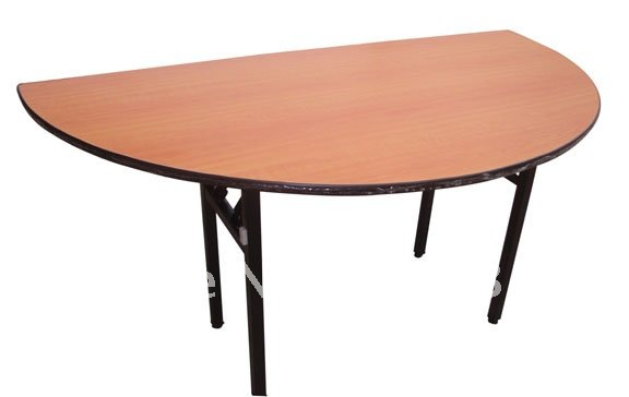 Hot sale Banquet table,half round folding table,solid plywood 18mm with laminated top,steel folding leg