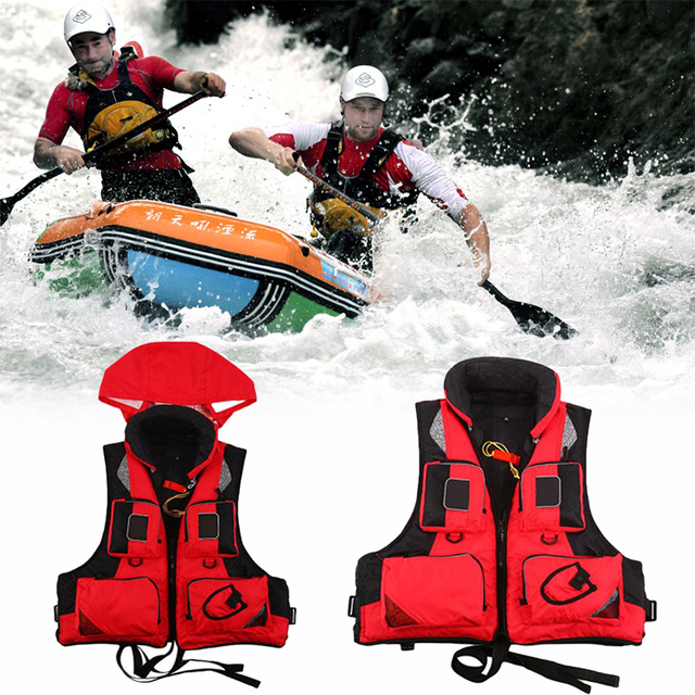 Outdoor New Life Jacket Fishing Vest For Water Sports Kayak Survival Swimwear