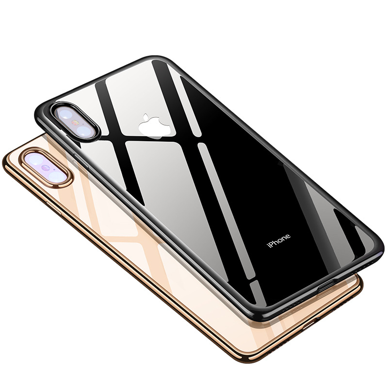 Transparent Soft Shell Phone Cases For iPhone 6 6S 7 8 Plus Phone Cover For iPhone X XR XS Max TPU Soft Shell Phone Case in Half wrapped Cases from Cellphones Telecommunications