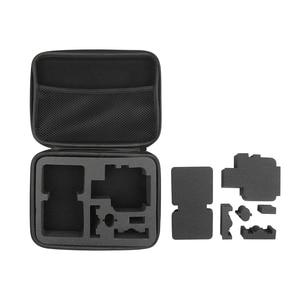 Image 5 - Atirar m/s tamanho eva caso portátil para gopro hero 9 8 7 5 sessão sjcam sj4000 para xiaomi yi 4k ação câmera coleção caixa de montagem