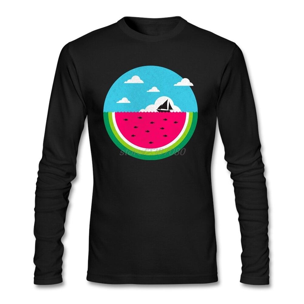 T shirt design jackson ms - Watermelon Deep Natural Cotton Sweatshirts Hombre New Design Long Sleeve T Shirt Boys Cool Tshirt