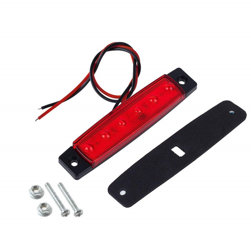 DC 12V 6 LED Side Marker Light Tail Lights, Side Lights For Trailer Truck BUS