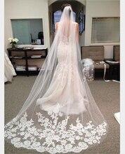 Velo de novia blanco y blanco, velo de novia de 3 metros de largo