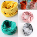 1pc 100% Cotton 40*40cm Warm Baby Scarf Kids Child Collar Boys Girls Kids O Ring Scarf Children Neck Scarves Retail/Wholesale