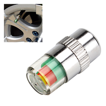 4pcs/lot Car Accessories 3 Color Alert New Car Tyre Tire Pressure Monitor Valve Stem Cap Sensor Indicator Car Styling Hot