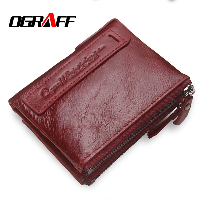 OGRAFF Purse Genuine Leather Men Wallets Clutch Male Clutch Bag Coin Purse Card Holder For Men Portfolio Perse Small Mini Wallet men wallet male cowhide genuine leather purse money clutch card holder coin short crazy horse photo fashion 2017 male wallets