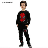 PENGPENGNIU Boys Spiderman Clothing Sets Kids Ironman Clothes For Autumn Winter 2017 Children S Cartoon Sport