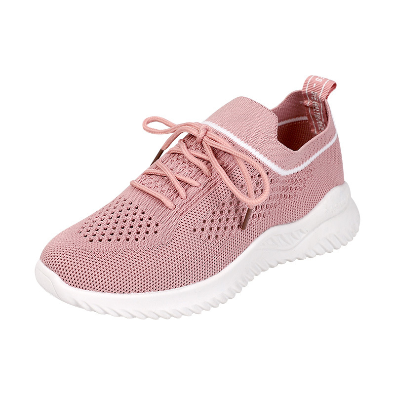 Korean version of the spring and summer new products flynit breathable hollow mesh sports shoes women's vulcanized shoes