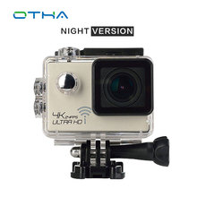 4K Action Camera Night Vision WiFi Ultra HD Sport Camera 2.0-inch Waterproof 16MP 170 Degree Extreme Sport Cam Night Version