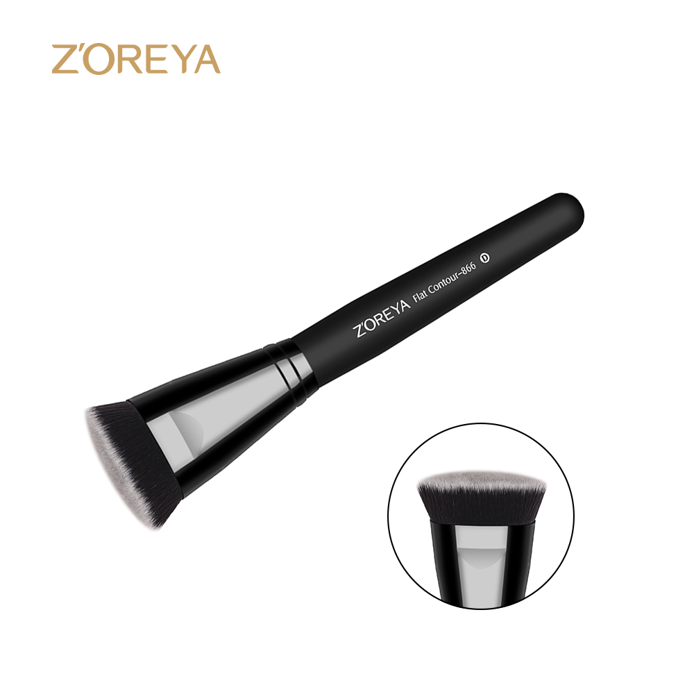 New Portable Flat Contour Makeup Brush Used With Powder Blusher Concealer Make Up Brushes As Beauty Cosmetic Tool Maquiagem new portable flat contour makeup brush used with powder blusher concealer make up brushes as beauty cosmetic tool maquiagem