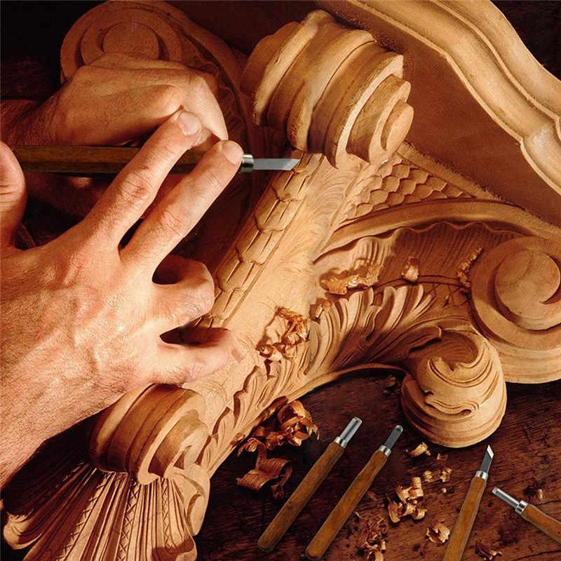 8 יח'\סט מחרטת עץ ידית נגרים ערכת DIY יד גילוף אזמלים עם אבן משחזת סט באיכות גבוהה