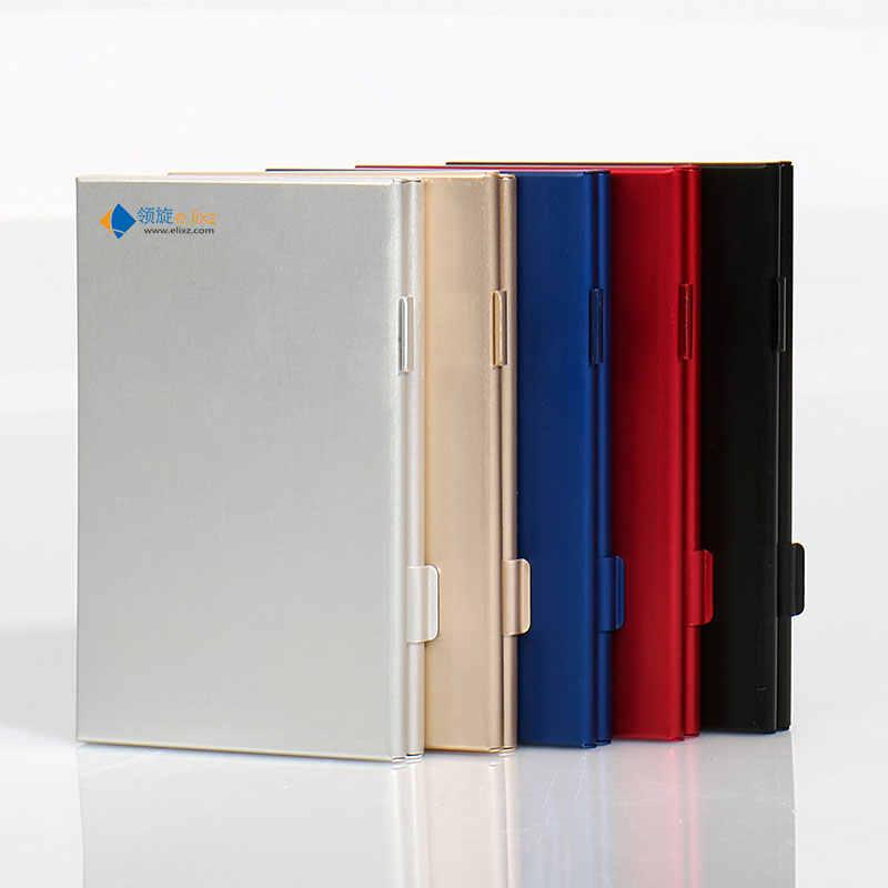 10 en 1 boîte de rangement en aluminium sac étuis de carte mémoire porte-monnaie grande capacité pour 4 * carte SD 4 * Mirco SD 2 * carte SIM
