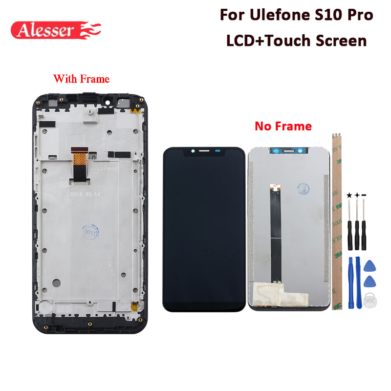 Alesser For Ulefone S10 Pro LCD Display And Touch Screen With Frame Tested Assembly For Ulefone
