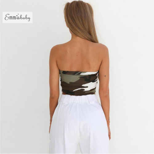 536ccd5bae0463 ... New Womens Ladies Sleeveless Tank Tops Plain Printed Boob Tube  Strapless Bandeau Stretch Vest Ladies Camo ...