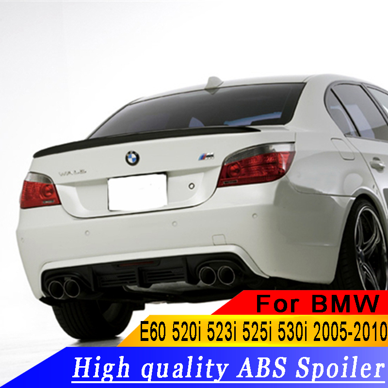 Pour BMW E60 520 525 528 535 Spoiler ABS De Haute Qualité Voiture Aileron Arrière SpoilerS Pour BMW E60 M5 Spoiler 2008-2011