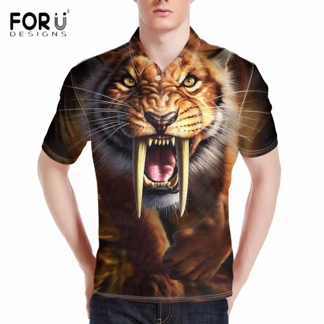 7d855f5f6 FORUDESIGNS-Creative-3D-Chat-dents-de-Sabre-Tigre-Impression-Polos-Chemise-pour-Hommes-Confort-D- t.jpg 640x640.jpg