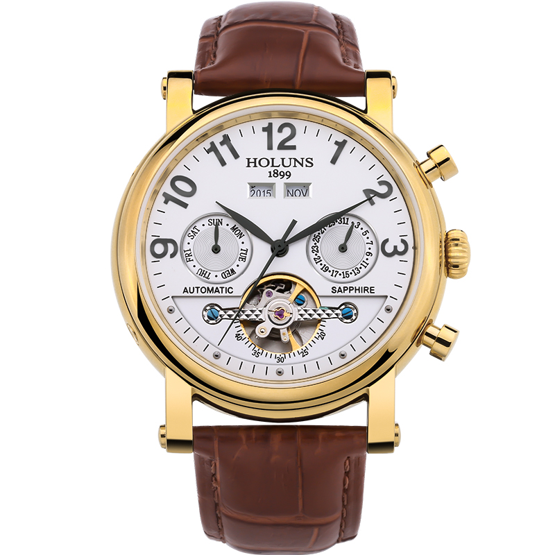automatic Mechanical men watch with fashion leather strap 2016 top sale luxury big dial business Retro skeleton stainless steel fashion fngeen brand simple big dial skeleton automatic mechanical men casual wrist watch stainless steel band horloges 6609g