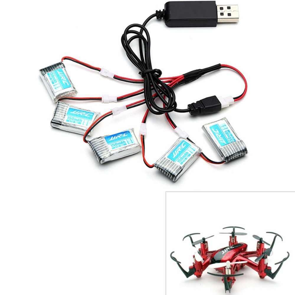 RC Quadcopter pièces de rechange 5 pcs 3.7 V 150 mAh 20C Batterie Et USB Câble Ensemble Pour JJRC H20 H20C