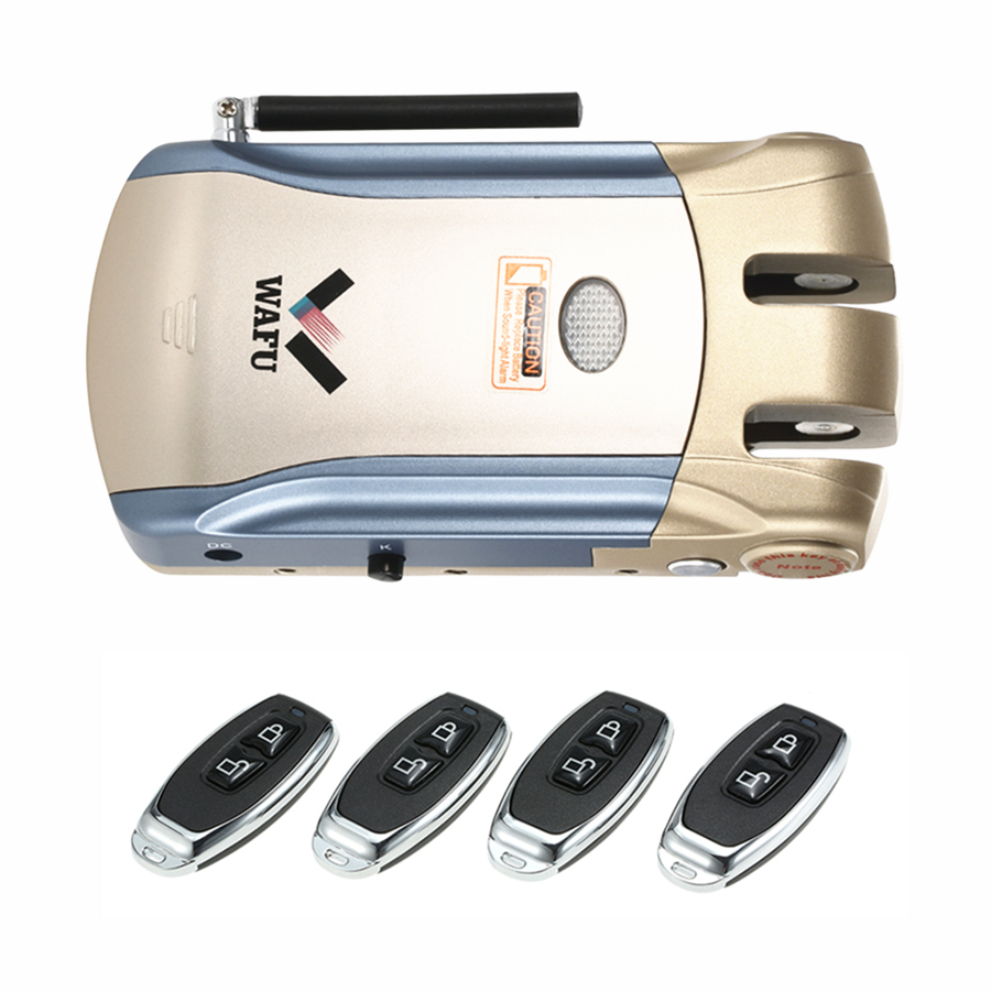 Security Remote Control Electronic Door Lock Set Padlock Locks Automatically Intellisense Household Warded Smart Lock