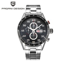 Mens Chronograph Watches PAGANI DESIGN Men Quartz Watch Outdoor Sports Military Wristwatch Multifunction Male Clock Reloj Hombre