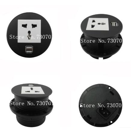 Round Table Mount Socket with Universal/UK/EU/USA power and RJ45/rj11/HDMI/dual USB /USB european USB usb multi charge sockets