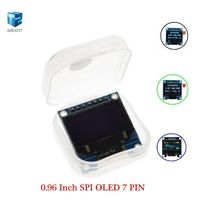 0.96 Inch SPI OLED Display Module White blue color 128X64 OLED 7Pin Yellow blue color  Driver Chip SSD1306 for Arduino good