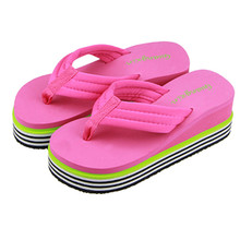 Women Summer high quality Sandals Slipper Indoor Outdoor Brand new Flip-flops Beach Shoes  2016 Hot Sale