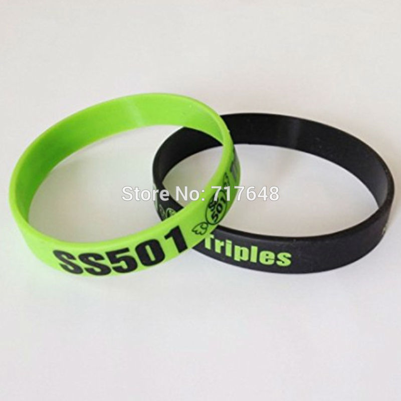 2016 Triple S TS kpop SS501 Kim Hyun Joong bracelet silicone rubber bracelets cuff bracelet wristband SS501 Cheer wristband