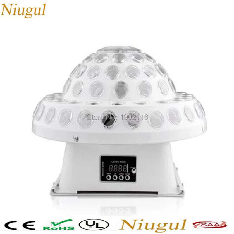 Niugul DMX512 Disco DJ Stage Lighting Digital LED RGB Crystal Magic Ball Effect Light 6pcs*3W DMX KTV Disco DJ Home party lights 6w e27 led stage light rgb lamp with voice activated mp3 projector crystal magic ball rotating disco dj party stage lighting