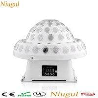 Niugul dmx512ディスコdj舞台照明デジタルled rgbクリスタルマジックボール効果光6ピース* 3ワットdmx ktvディスコdjパーティーライト