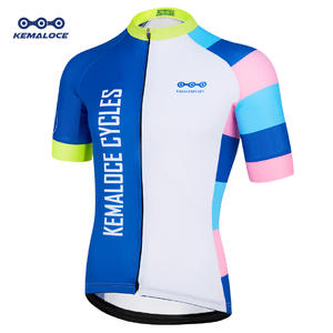 c6782280243 Kemaloce New Style Colorful Reflective Cycling Jersey UV Protection  Personalized Cycling Shirts Quick Dry Polyester Bike Jersey