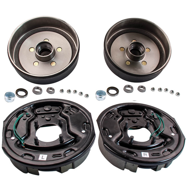 Trailer 5 On 4 Hub Drum Brake Kit 10x2 1 Electric Brakes For 3500 Lbs Axle