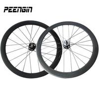 High end Fixie велосипед части углеродного следа колеса велосипеда 25 мм ширина 50 мм Глубина трубчатые полный углерода одной скорости велосипеды к