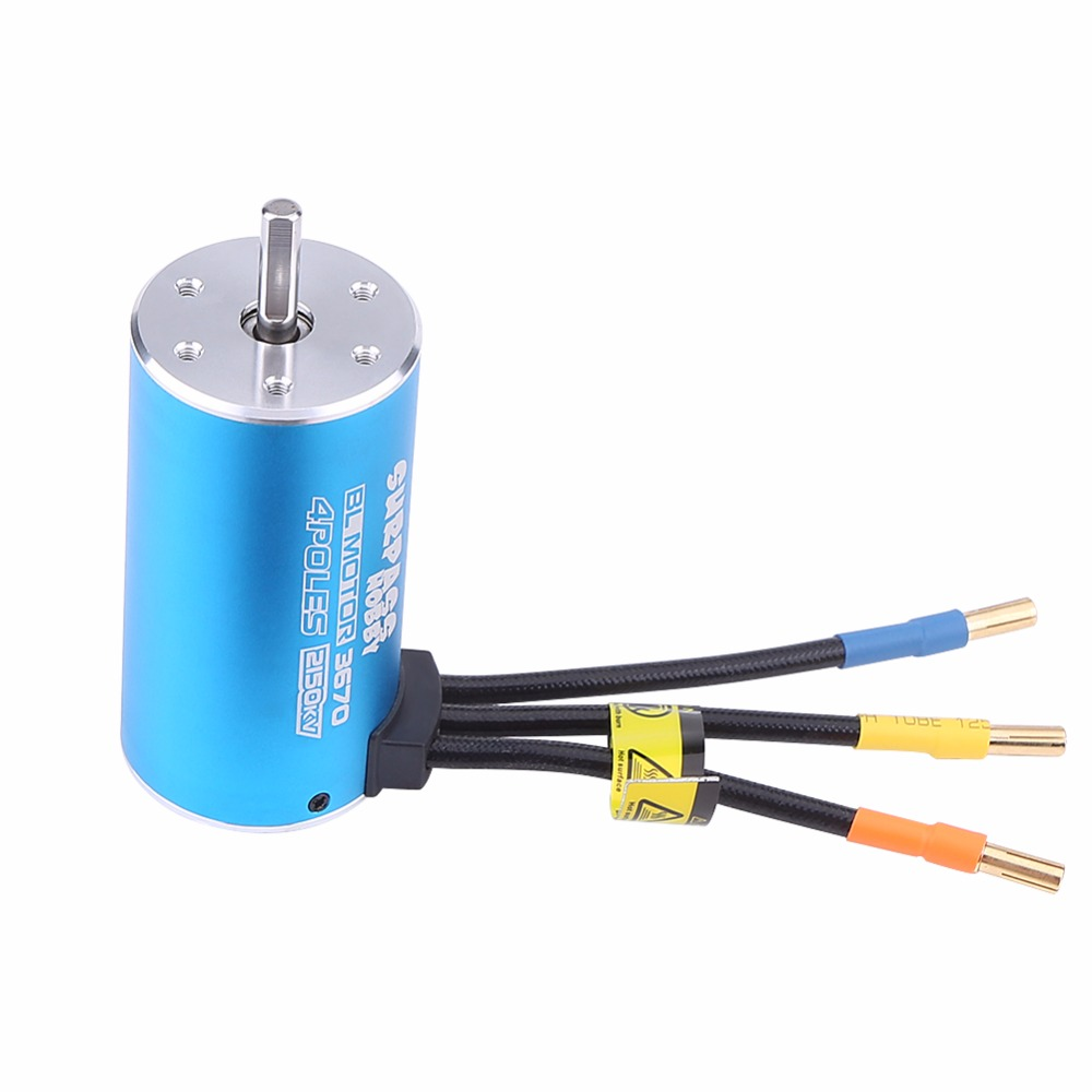 RC Motor + Electronic Speed Controller 4 Poles 3670 2150KV Motor + 80A Electronic Speed Controller For 1/10 1/8 RC Car / Boat