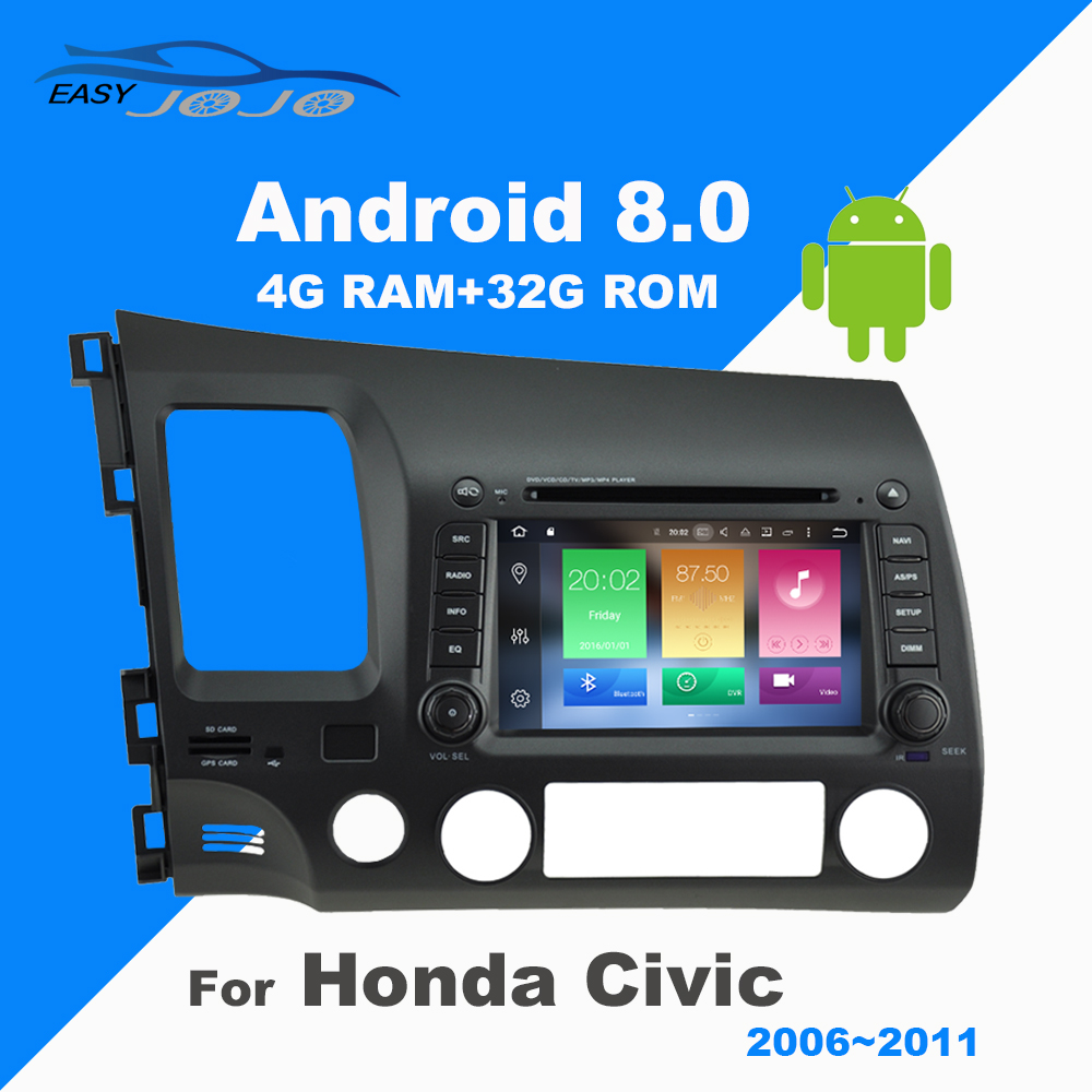 2 Din Android Car DVD Player GPS Navigation font b Multimedia b font Stereo For Honda