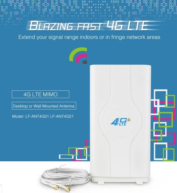 4g lte antena sma conector macho de 40dbi b3000 inalámbrica para 4g router huawei b593 b970 e5186 módem antena