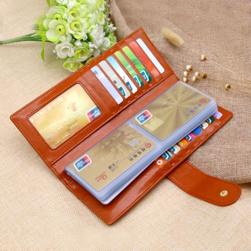 Aliexpress.com : Buy Women Men Leather Business Card Holder Credit ...