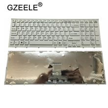 GZEELE New English US white laptop Keyboard for Sony vaio VPCEB36FG VPCEB4J1R VPC-EB1E9R VPC-EB VPCEB VPC EB pcg-71211v frame new laptop keyboard for sony vaio vpc y vpcy series sp layout