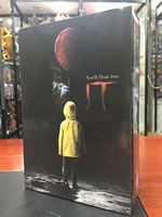 New Classic Horror Film It Ultimate Pennywise Joker with balloon NECA 7 Action Figure Toys for Kids