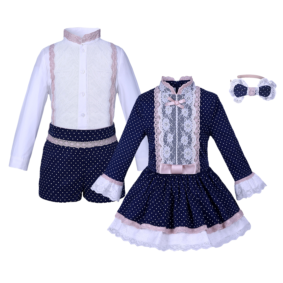 Pettigirl Series Fashionable Boys Cotton Clothing Sets Long Sleeves Solid Shirts Casual Pants Children Suit And