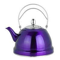 Wholesale stainless steel teapot colourful gold bell teapot with infuser kettle ktv teapot