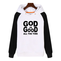 God Is Good All the Time Christian Hoodies fashion men women Sweatshirt Streetwear Thick Hoodie Tracksuit Sportswear GA923