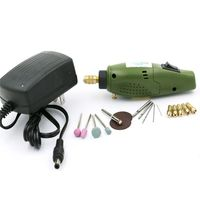 US Mini Electric Drill Qstexpress Accessories Electric Grinding Set 12V DC Grinder Tool For Milling Polishing