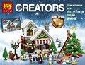 JX Creadores de Nieve de Navidad Kits de Edificio Modelo de casa choza figuras Bloques Kid Toy Compatible