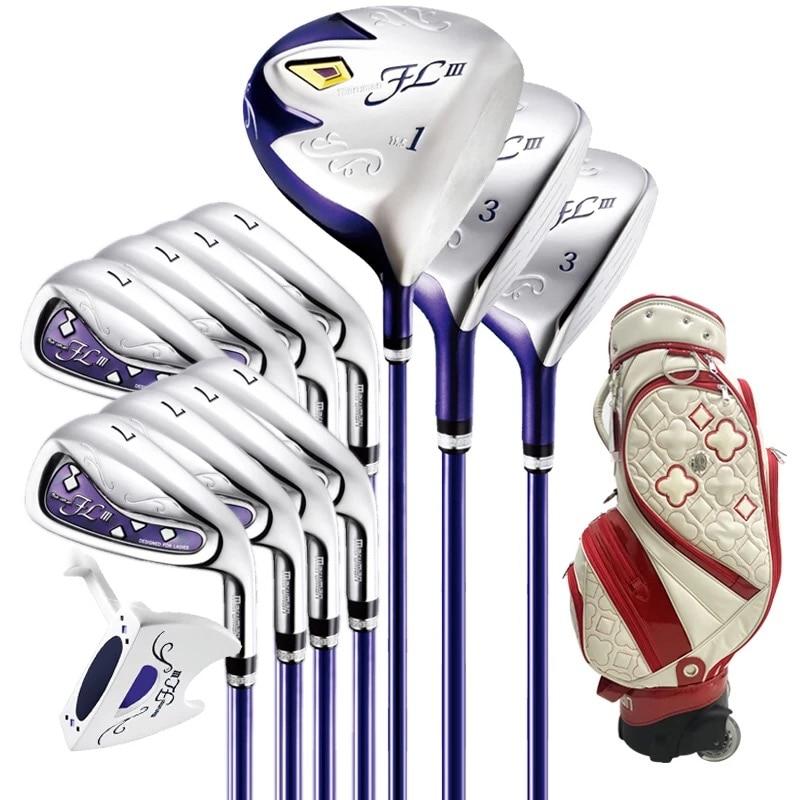 Delle nuove donne Golf club Maruman FL III driver + fairway legno + ferro + putter + Sacca Da Golf set completo di club Grafite spedizione gratuita